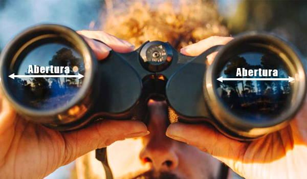 abertura de binoculares